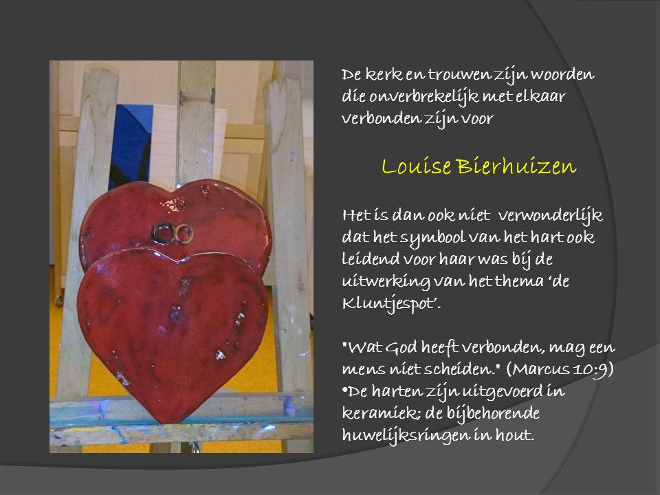 De kerk en trouwen zijn woorden die onverbrekelijk met elkaar verbonden zijn voor Louise Bierhuizen Het is dan ook niet verwonderlijk dat het symbool