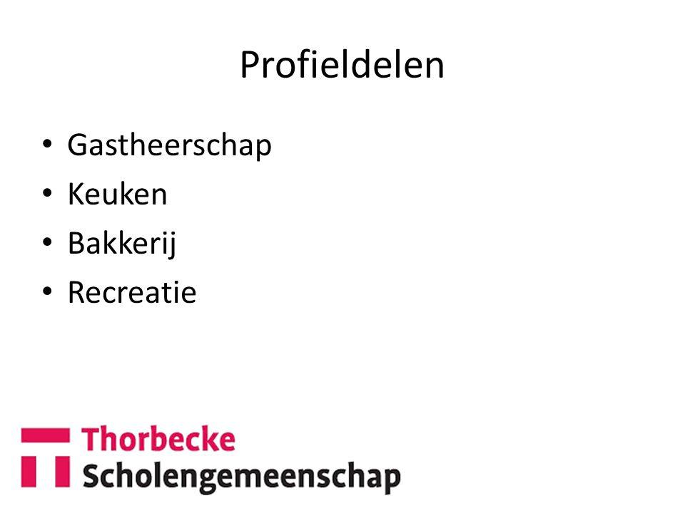 Profieldelen Gastheerschap Keuken Bakkerij Recreatie