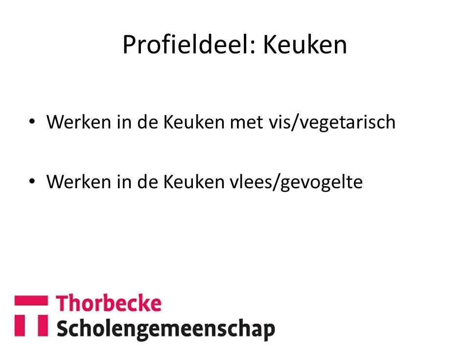 Profieldeel: Keuken Werken in de Keuken met vis/vegetarisch Werken in de Keuken vlees/gevogelte