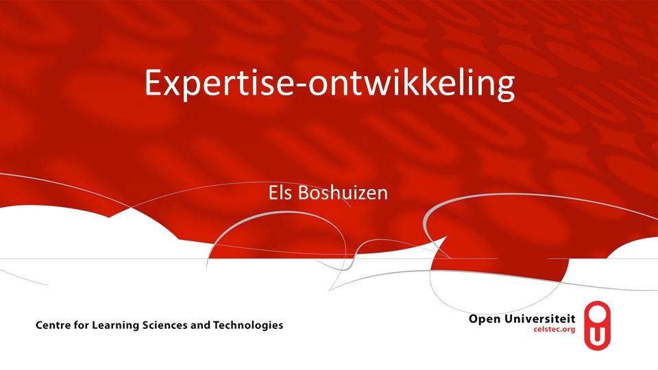 Expertise-ontwikkeling Els Boshuizen