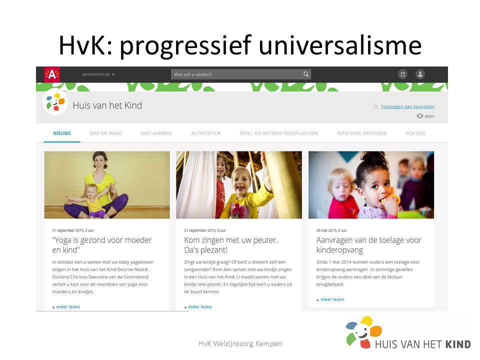 HvK: progressief universalisme HvK Welzijnszorg Kempen20