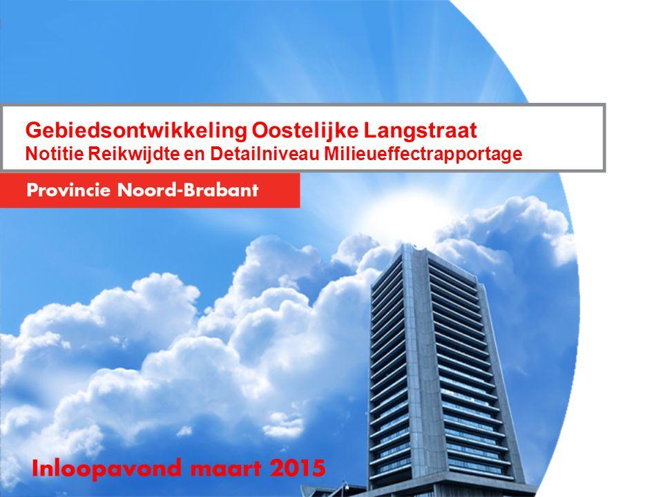 Gebiedsontwikkeling Oostelijke Langstraat Notitie Reikwijdte en Detailniveau Milieueffectrapportage