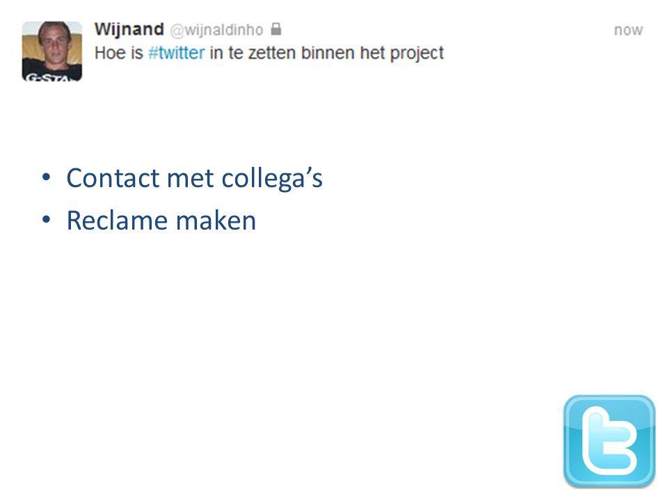 Contact met collega's Reclame maken
