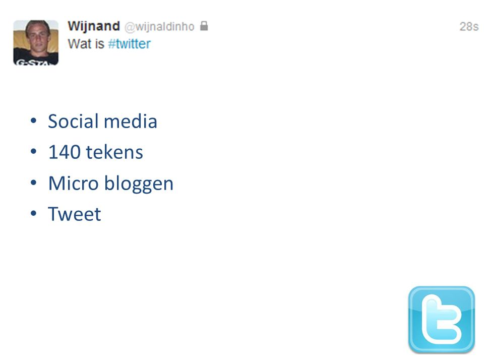 Social media 140 tekens Micro bloggen Tweet