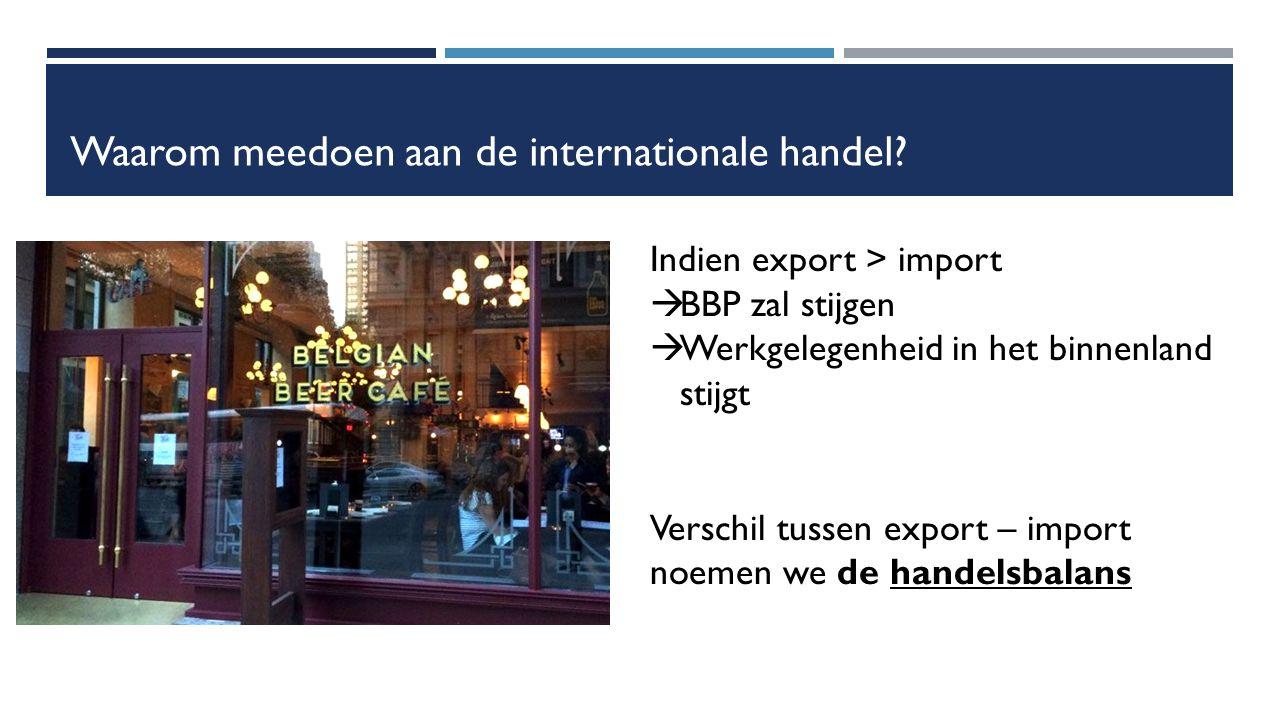 Waarom meedoen aan de internationale handel.