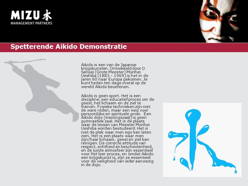 Spetterende Aikido Demonstratie Aikido is een van de Japanse krijgskunsten.