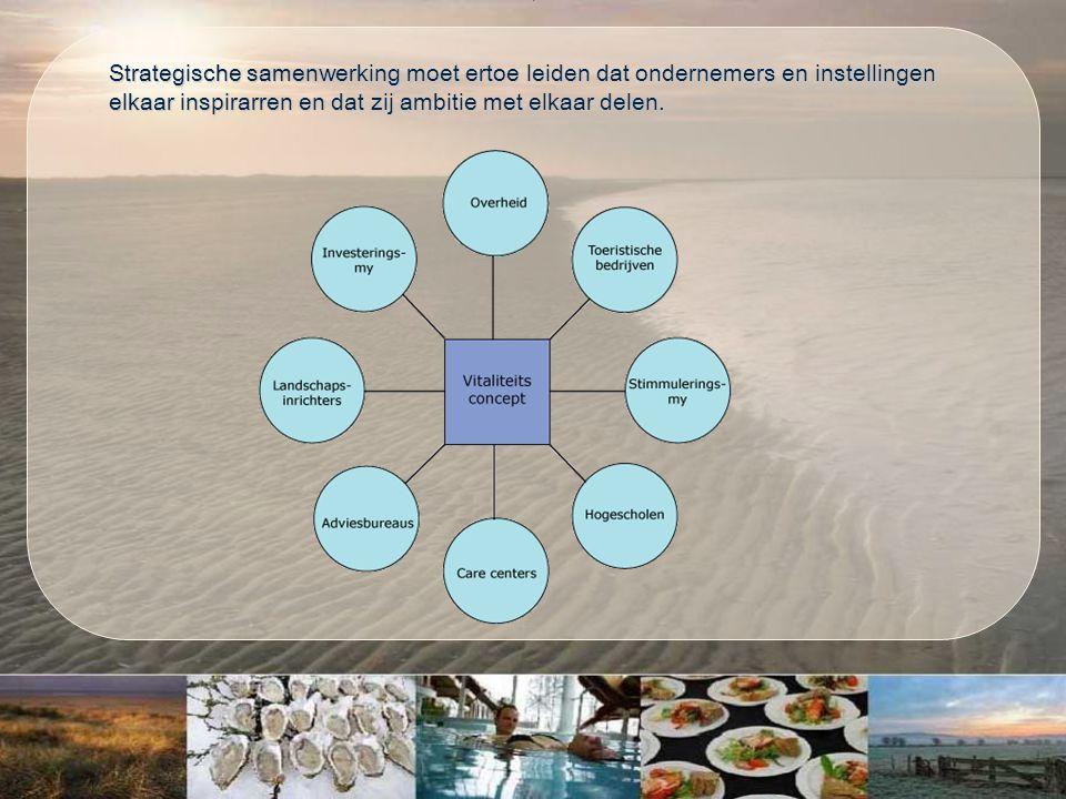 Strategische samenwerking moet ertoe leiden dat ondernemers en instellingen elkaar inspirarren en dat zij ambitie met elkaar delen.
