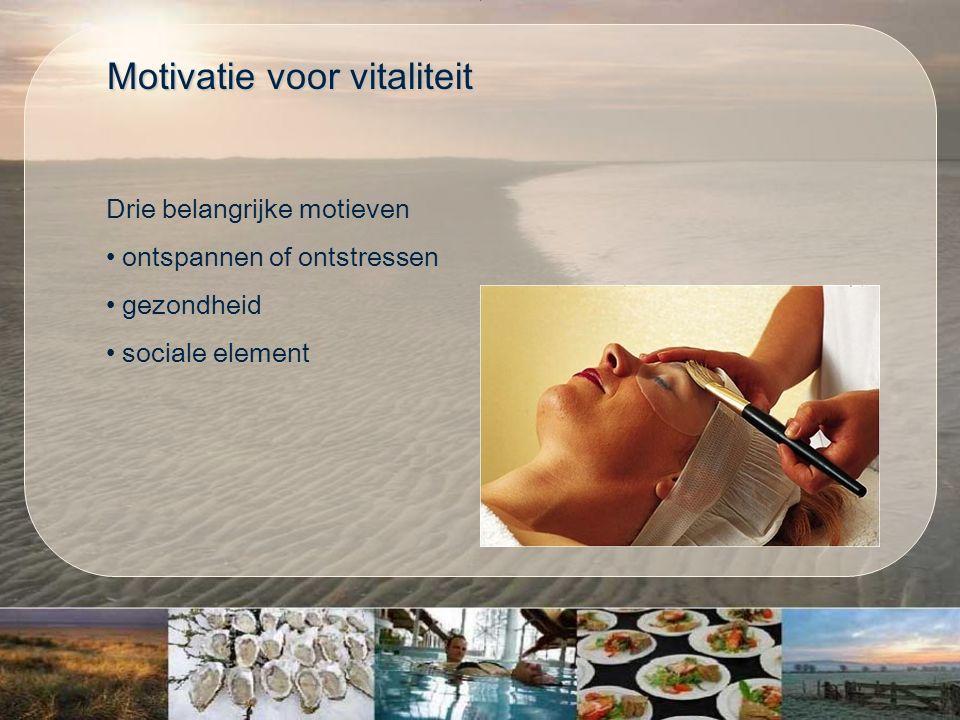 Drie belangrijke motieven ontspannen of ontstressen gezondheid sociale element Motivatie voor vitaliteit Motivatie voor vitaliteit