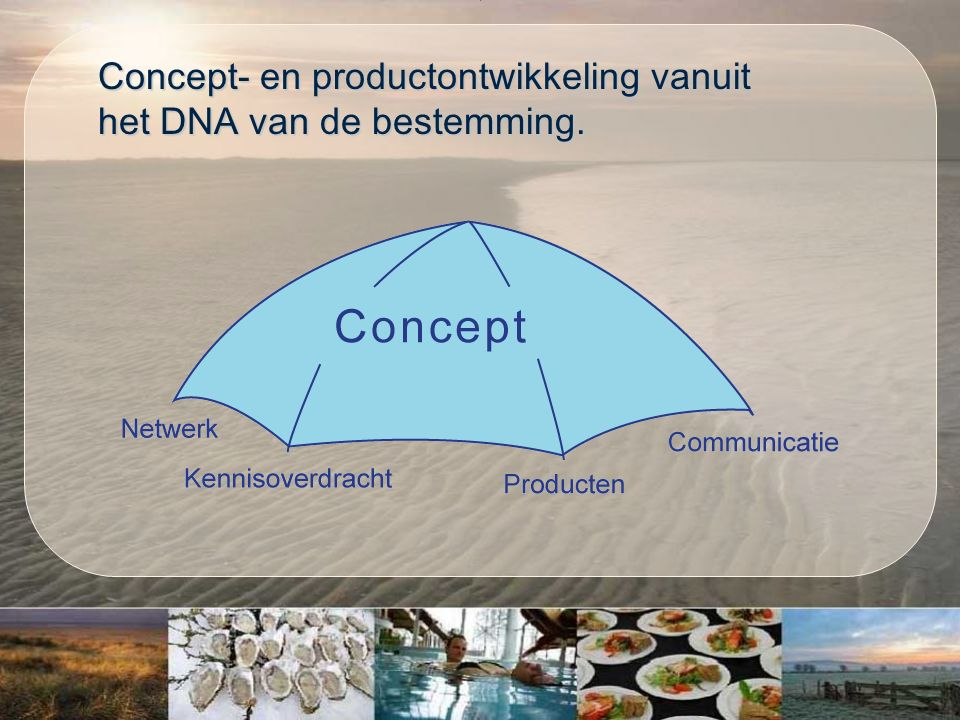 Concept- en productontwikkeling vanuit het DNA van de bestemming.