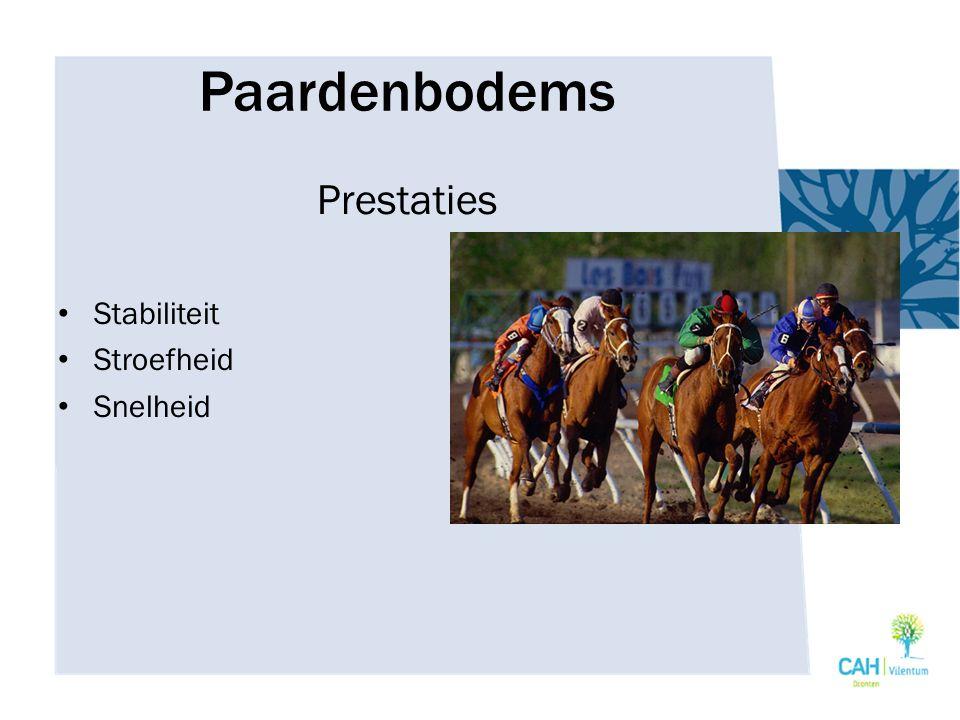 Paardenbodems Soorten bodems Grasbodem Gras/kunststofbodem Zandbodem Zand/kunststof Zand/hout