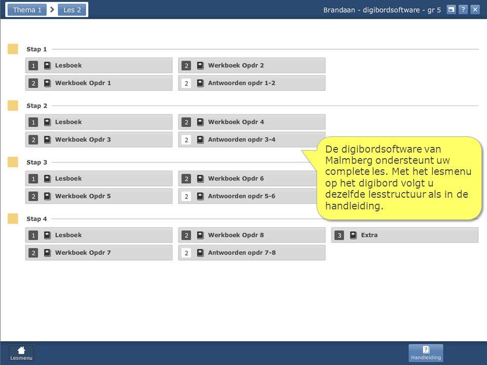 De digibordsoftware van Malmberg ondersteunt uw complete les.