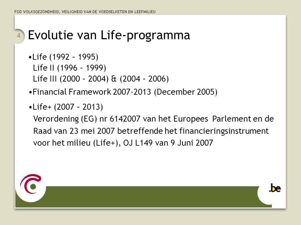 FOD VOLKSGEZONDHEID, VEILIGHEID VAN DE VOEDSELKETEN EN LEEFMILIEU 5 voor 2007: ca.