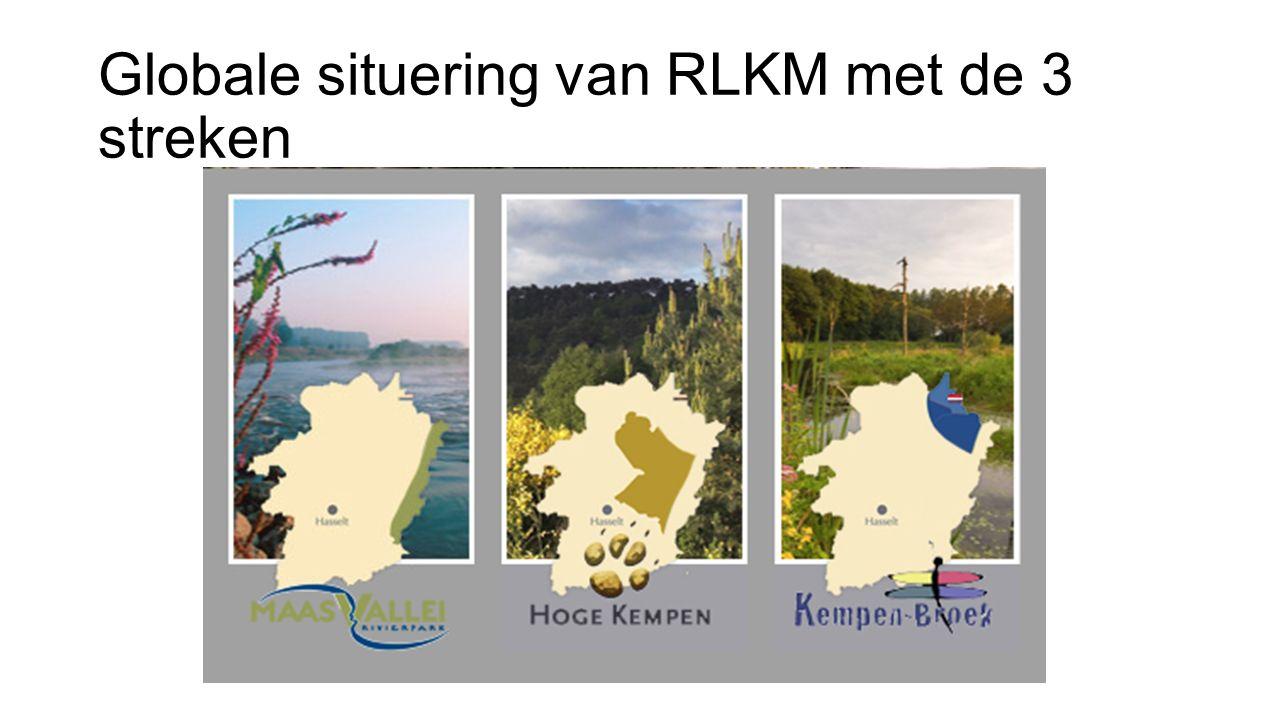 Globale situering van RLKM met de 3 streken