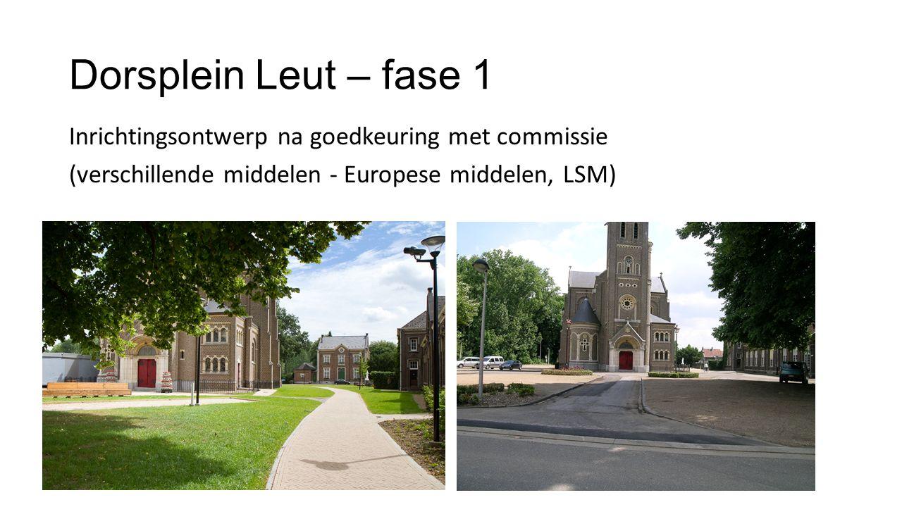 Dorsplein Leut – fase 1 Inrichtingsontwerp na goedkeuring met commissie (verschillende middelen - Europese middelen, LSM)