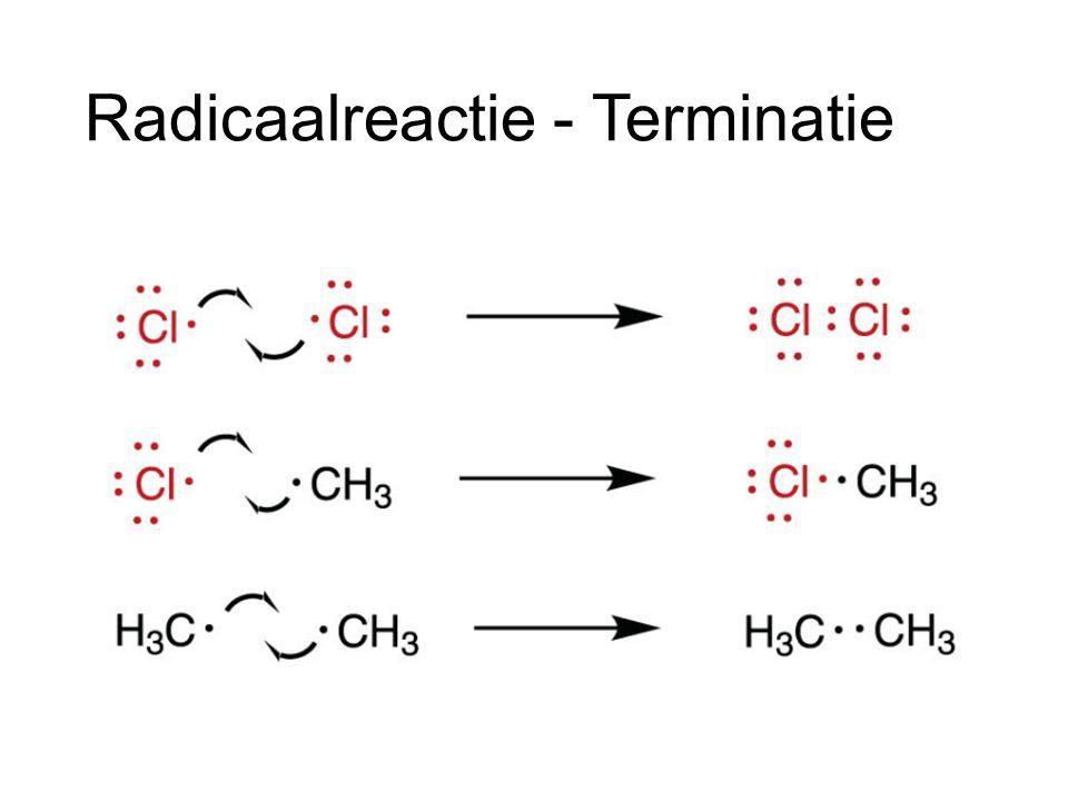 Wat heb ik nodig Een goede vertrekkende groep Halogenen (F, Cl, Br, I) Een nucleofiel OH - Ruimte Kleine substituenten op centraal C-atoom