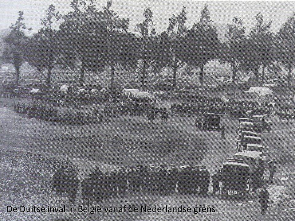 De Duitse inval in België vanaf de Nederlandse grens