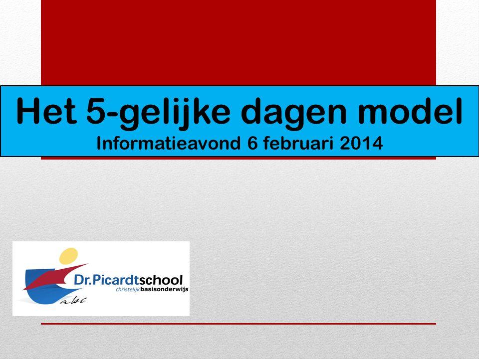 Het 5-gelijke dagen model Informatieavond 6 februari 2014