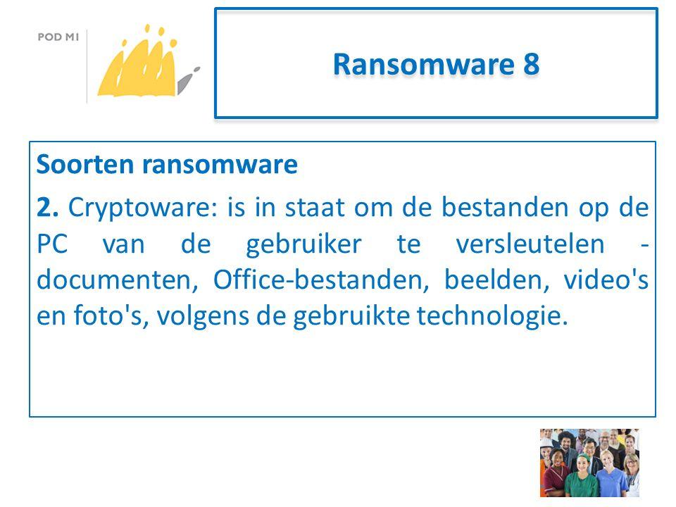 Ransomware 8 Soorten ransomware 2.