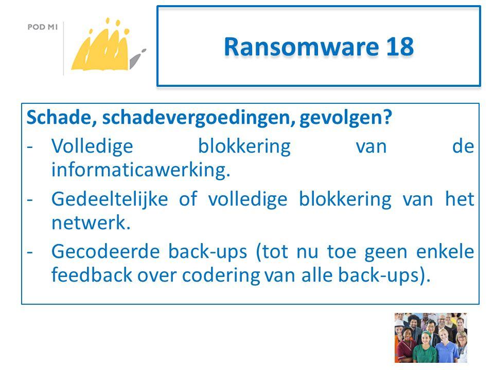 Ransomware 18 Schade, schadevergoedingen, gevolgen.