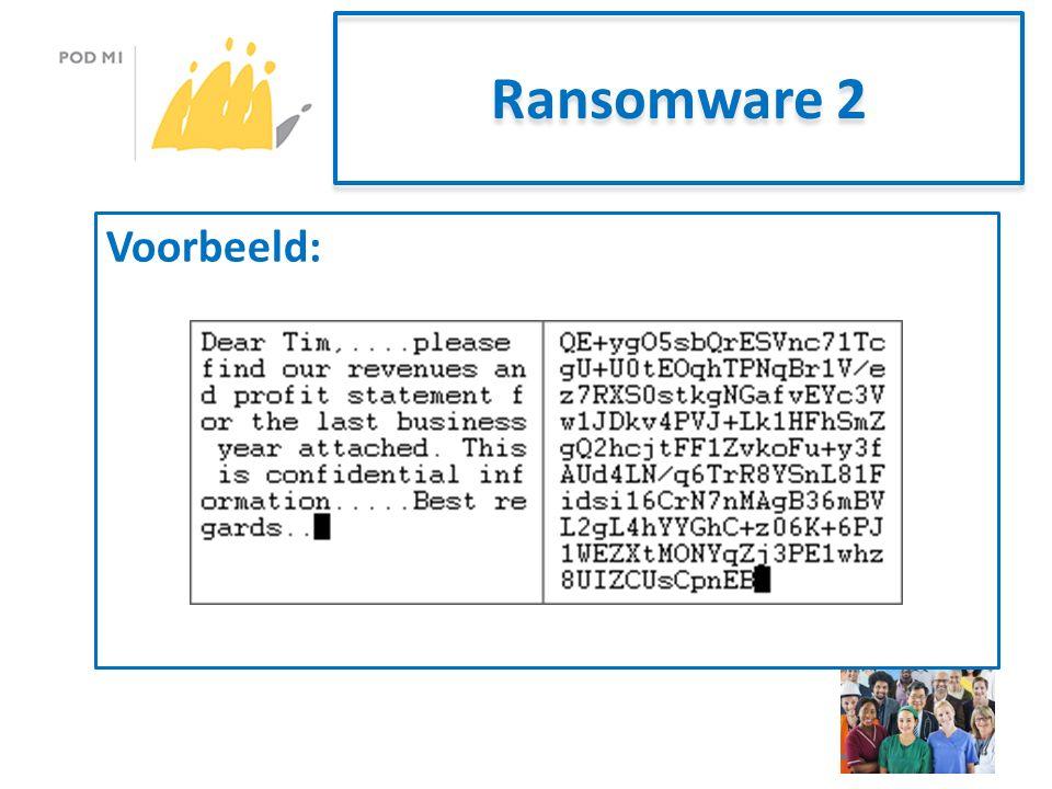 Ransomware 2 Voorbeeld: