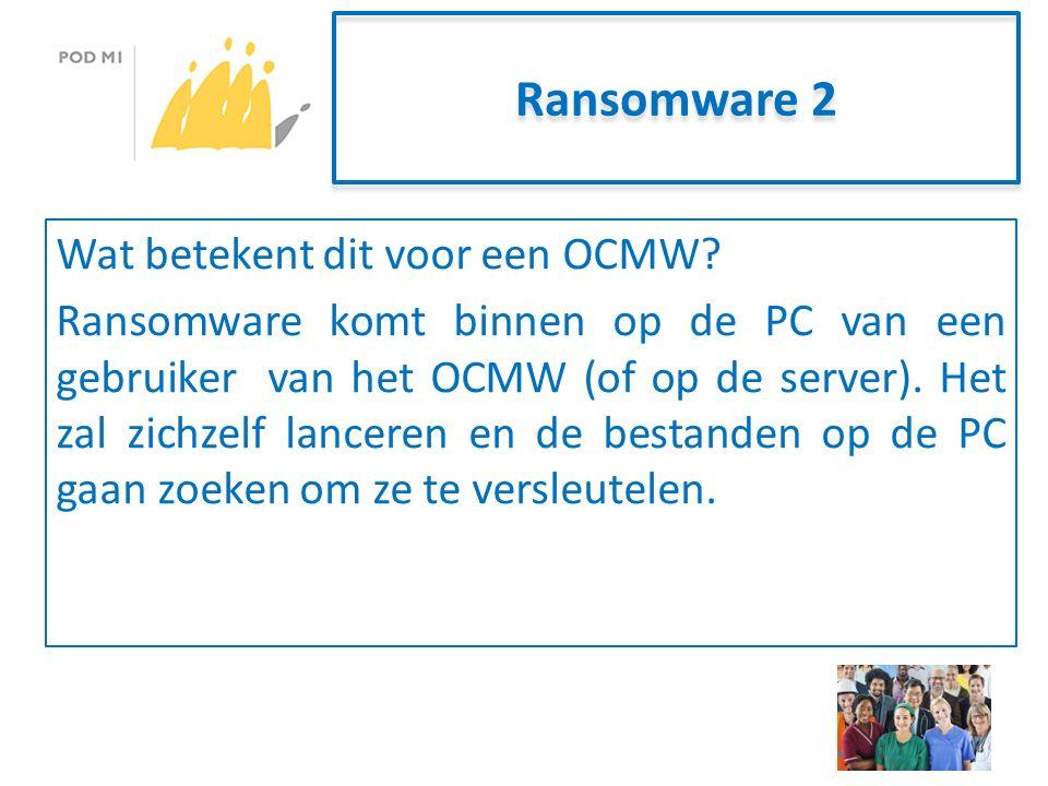 Ransomware 2 Wat betekent dit voor een OCMW.