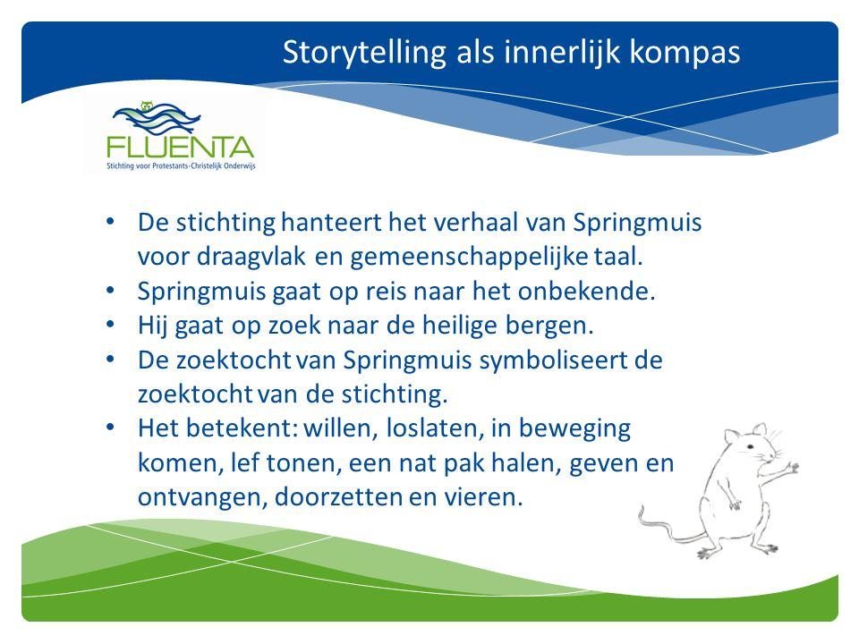 Storytelling als innerlijk kompas De stichting hanteert het verhaal van Springmuis voor draagvlak en gemeenschappelijke taal.
