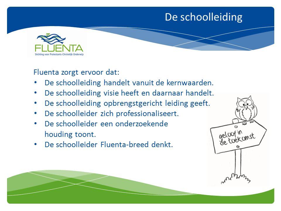 De schoolleiding Fluenta zorgt ervoor dat: De schoolleiding handelt vanuit de kernwaarden.