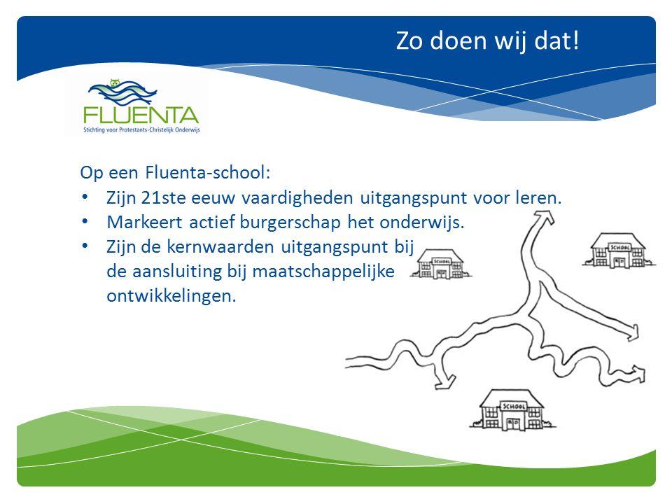 Zo doen wij dat. Op een Fluenta-school: Zijn 21ste eeuw vaardigheden uitgangspunt voor leren.