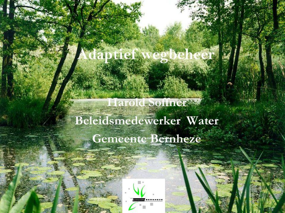 Adaptief wegbeheer Harold Soffner Beleidsmedewerker Water Gemeente Bernheze
