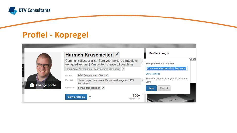 Profiel - Kopregel