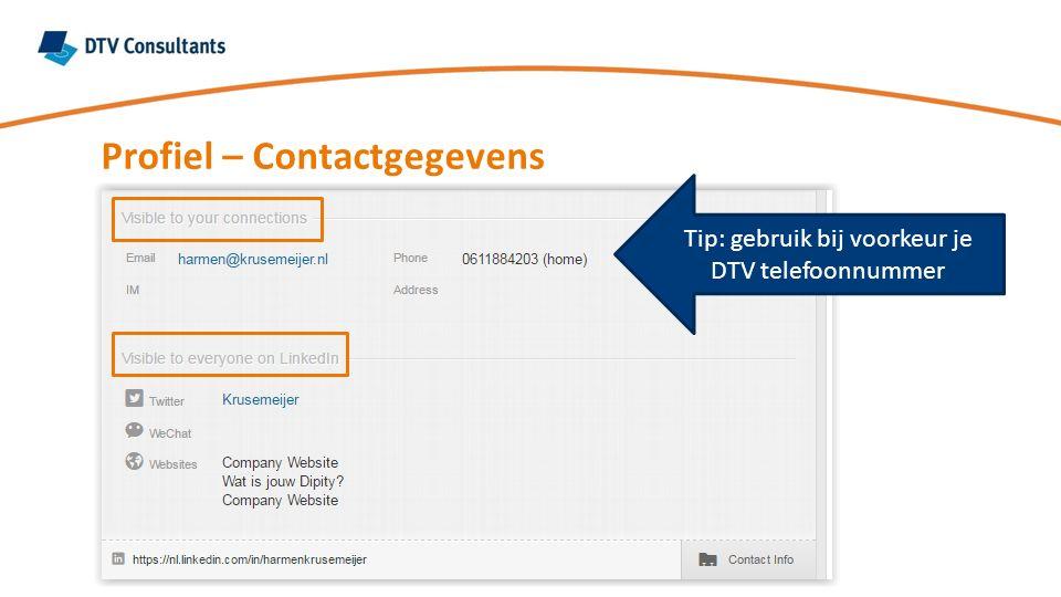 Tip: gebruik bij voorkeur je DTV telefoonnummer