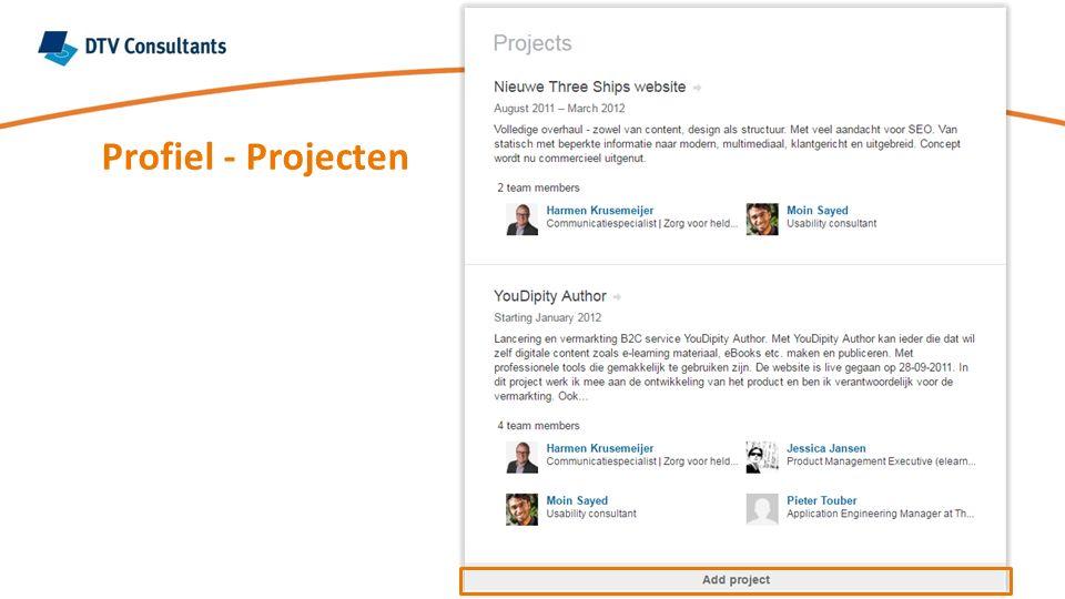Profiel - Projecten