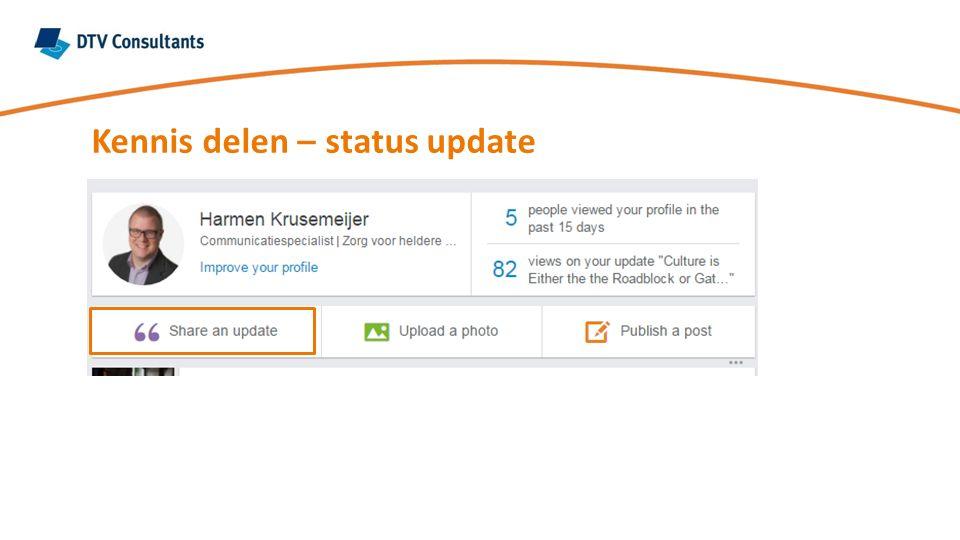 Kennis delen – status update
