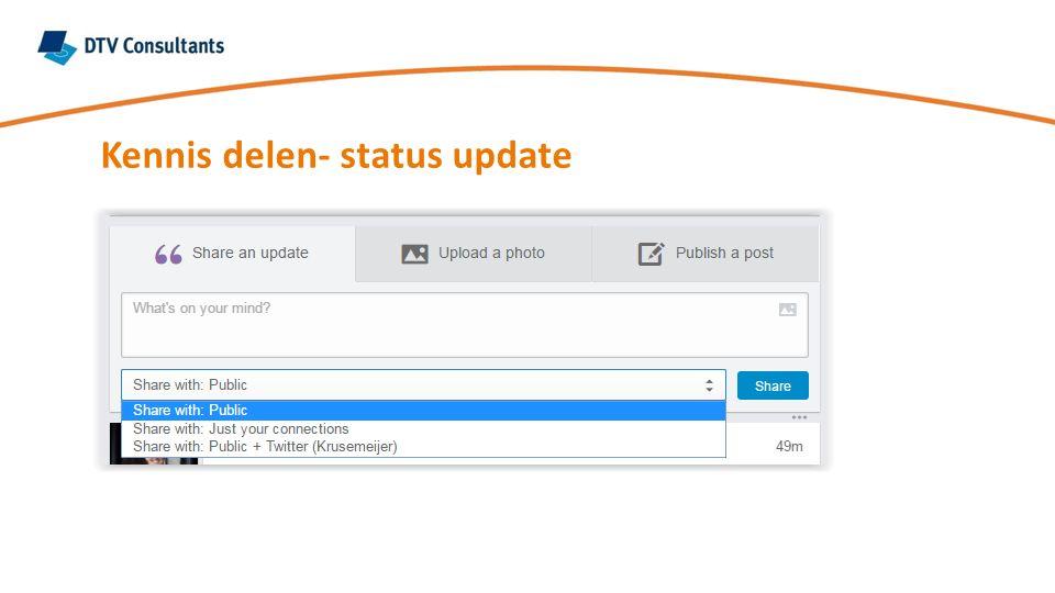 Kennis delen- status update