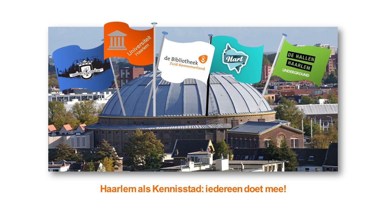 Haarlem als Kennisstad: iedereen doet mee! UNDERGROUND Universitei t Haarlem