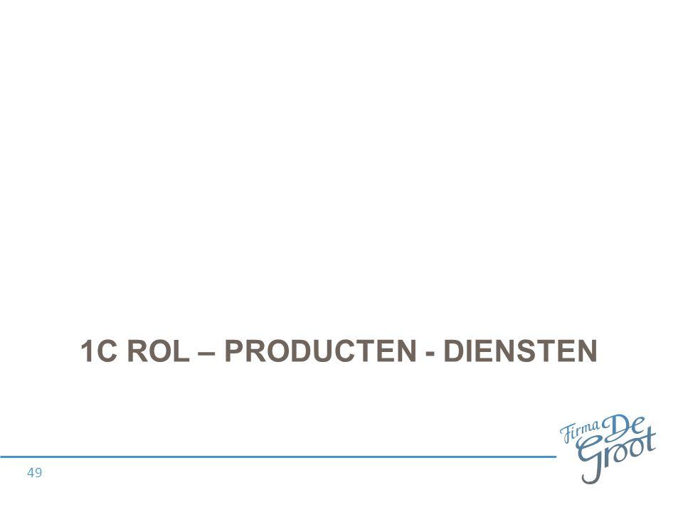 1C ROL – PRODUCTEN - DIENSTEN 49