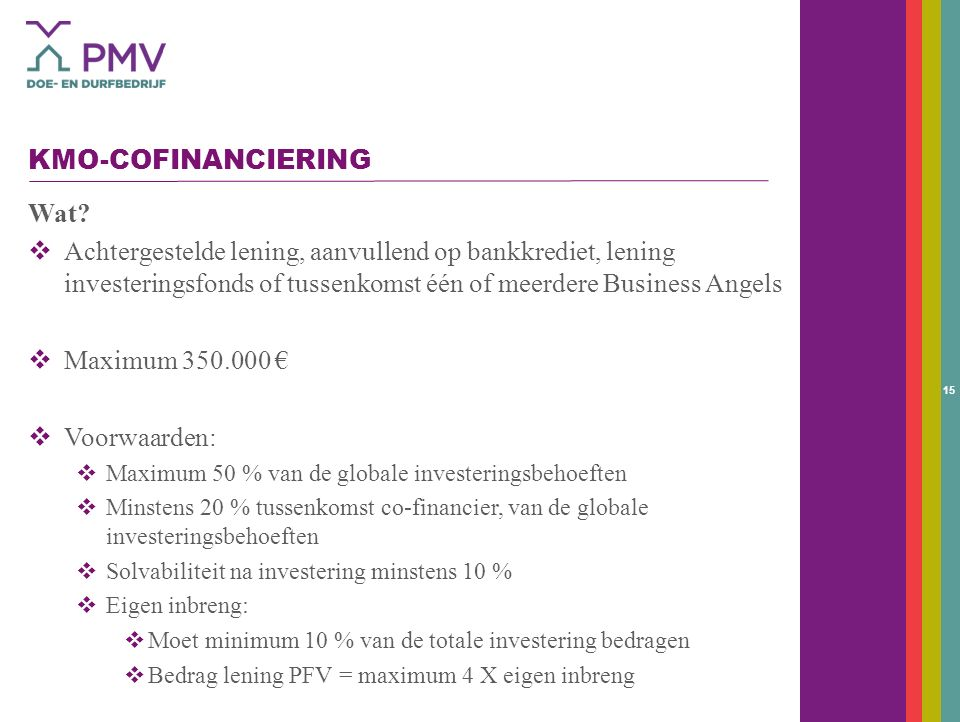 15 KMO-COFINANCIERING Wat.