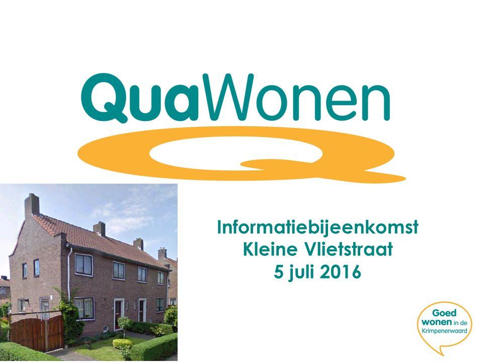 Informatiebijeenkomst Kleine Vlietstraat 5 juli 2016