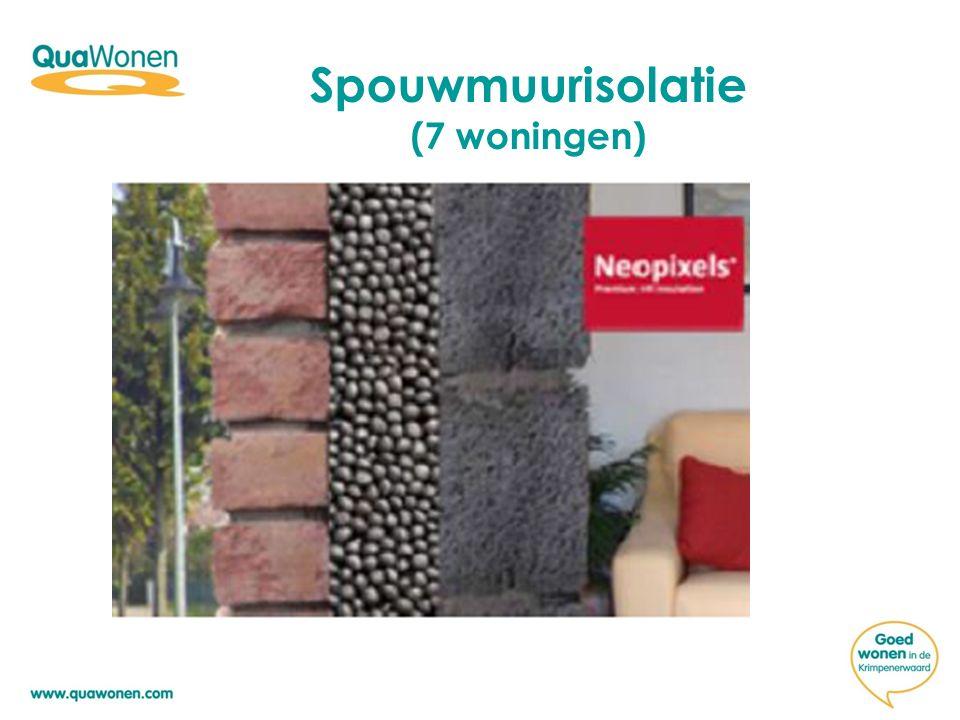 Spouwmuurisolatie (7 woningen)