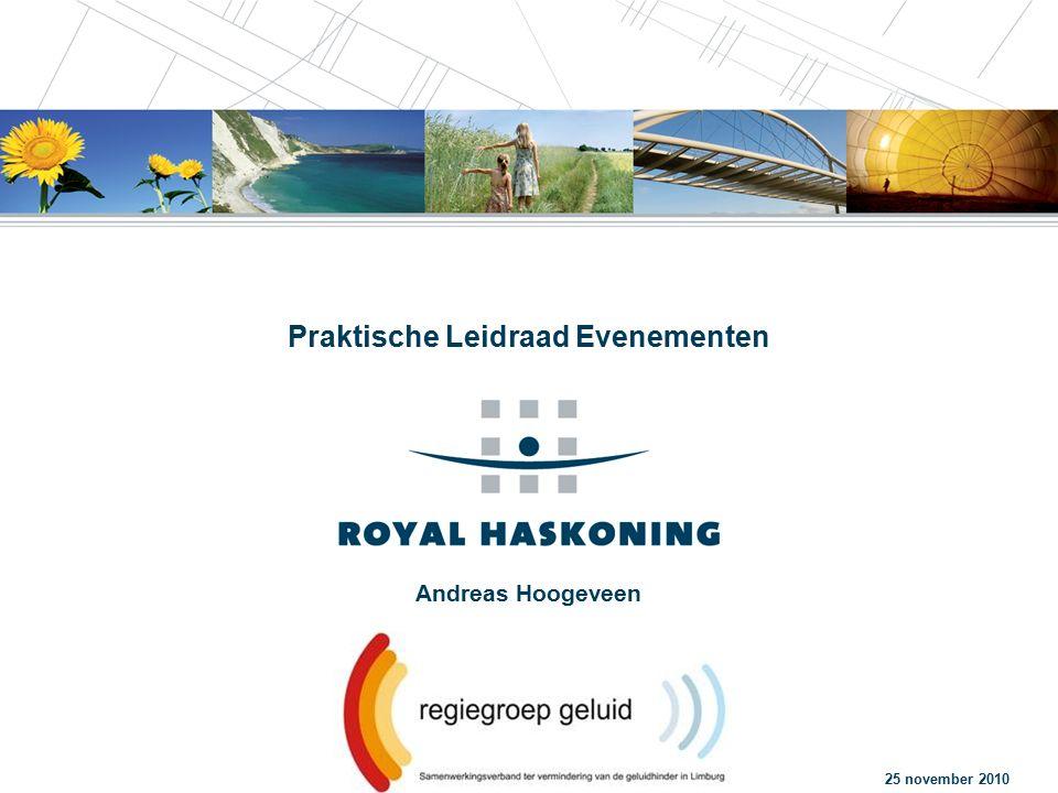 Andreas Hoogeveen Praktische Leidraad Evenementen 25 november 2010