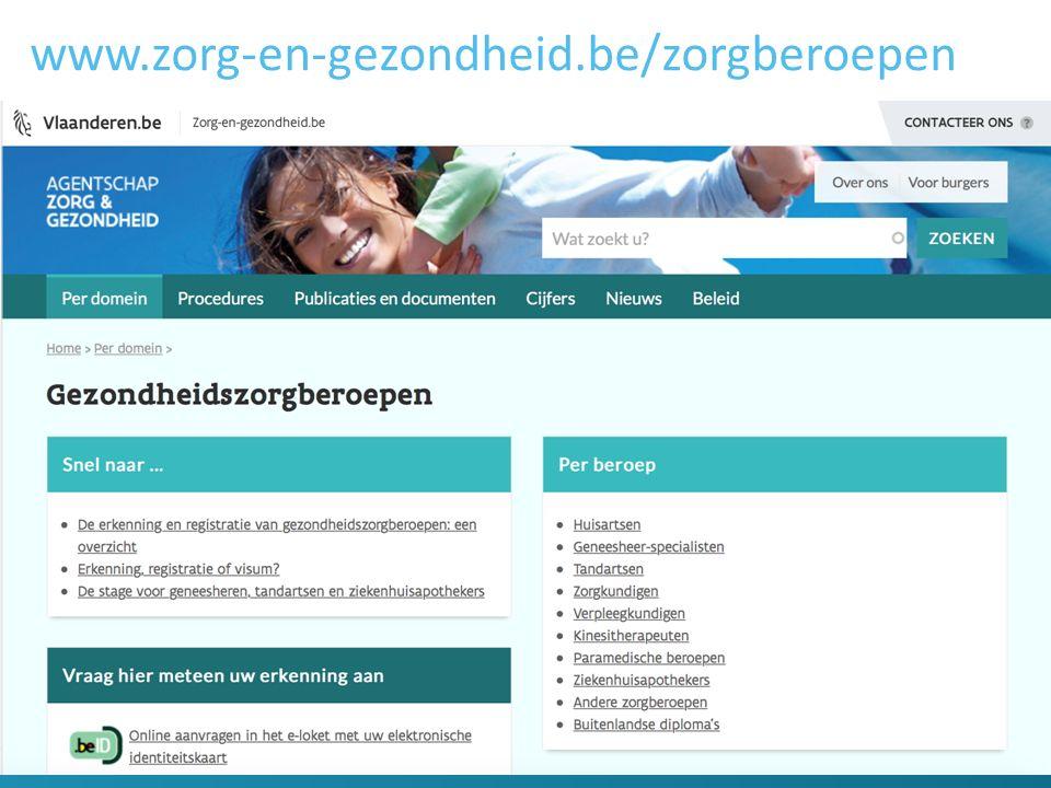 www.zorg-en-gezondheid.be/zorgberoepen 13