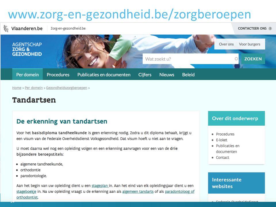 www.zorg-en-gezondheid.be/zorgberoepen 14
