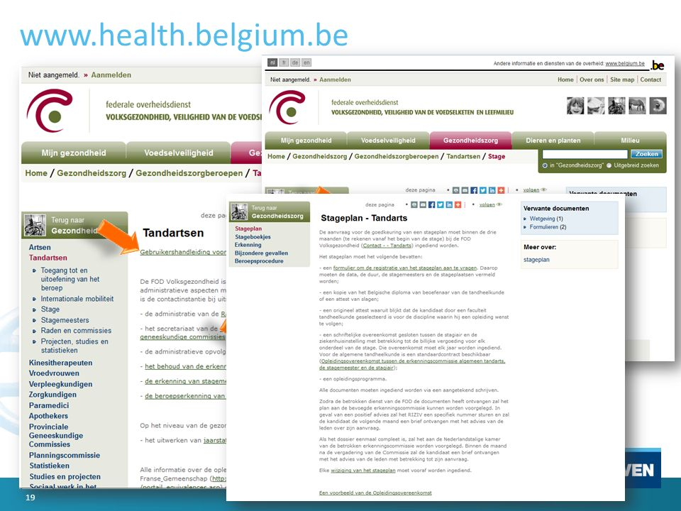 www.health.belgium.be 19