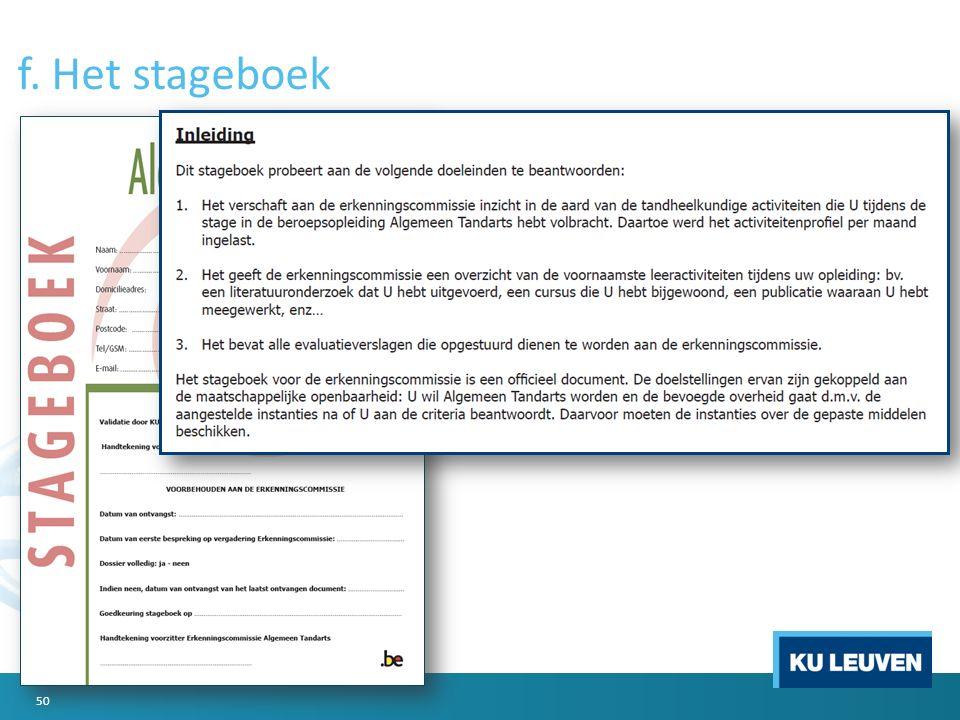 f. Het stageboek 50
