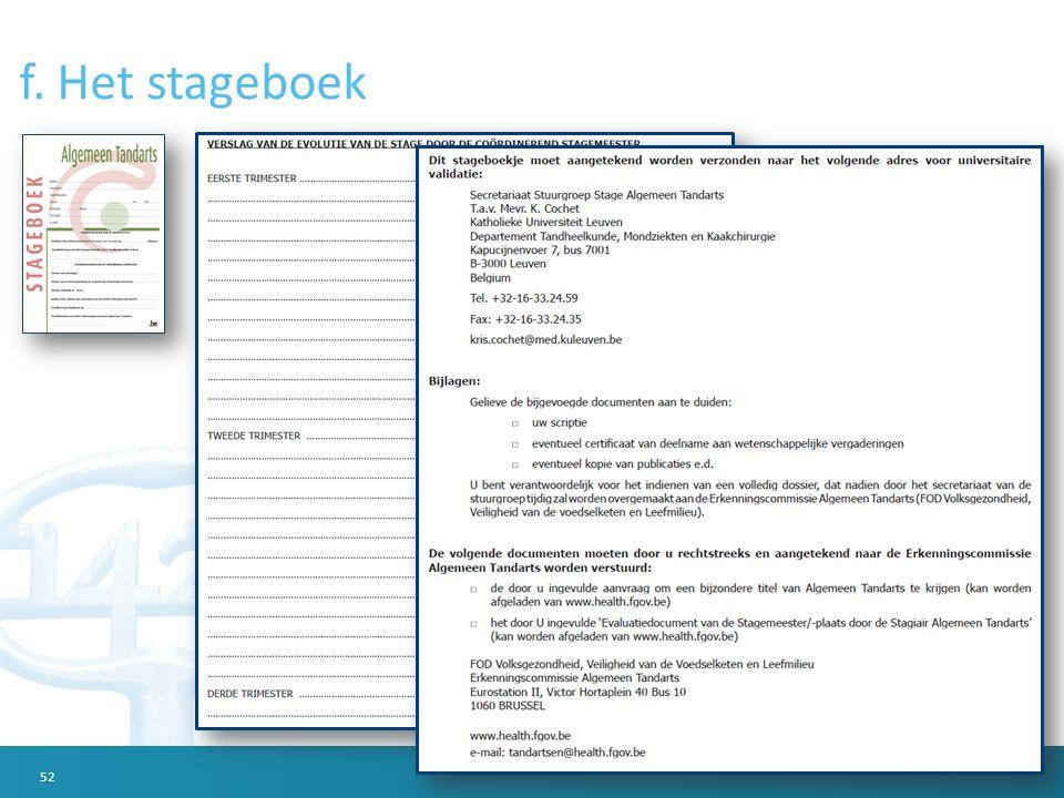 f. Het stageboek 52