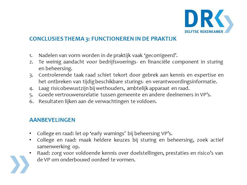 CONCLUSIES THEMA 3: FUNCTIONEREN IN DE PRAKTIJK 1.Nadelen van vorm worden in de praktijk vaak 'gecorrigeerd'.