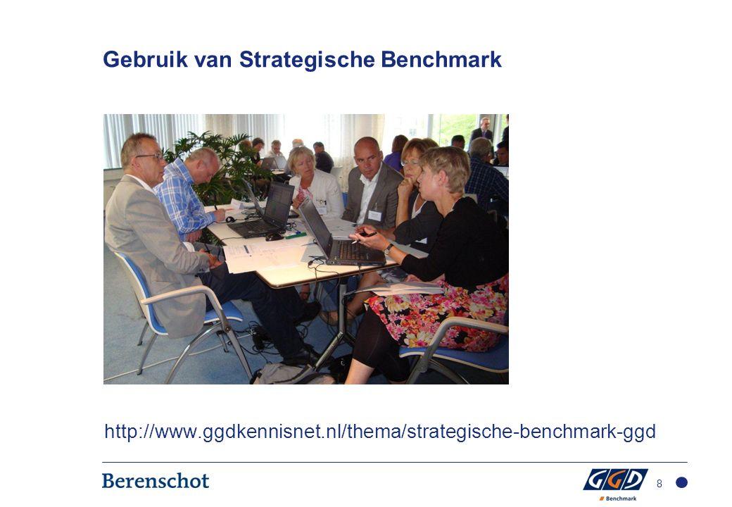 Gebruik van Strategische Benchmark http://www.ggdkennisnet.nl/thema/strategische-benchmark-ggd 8