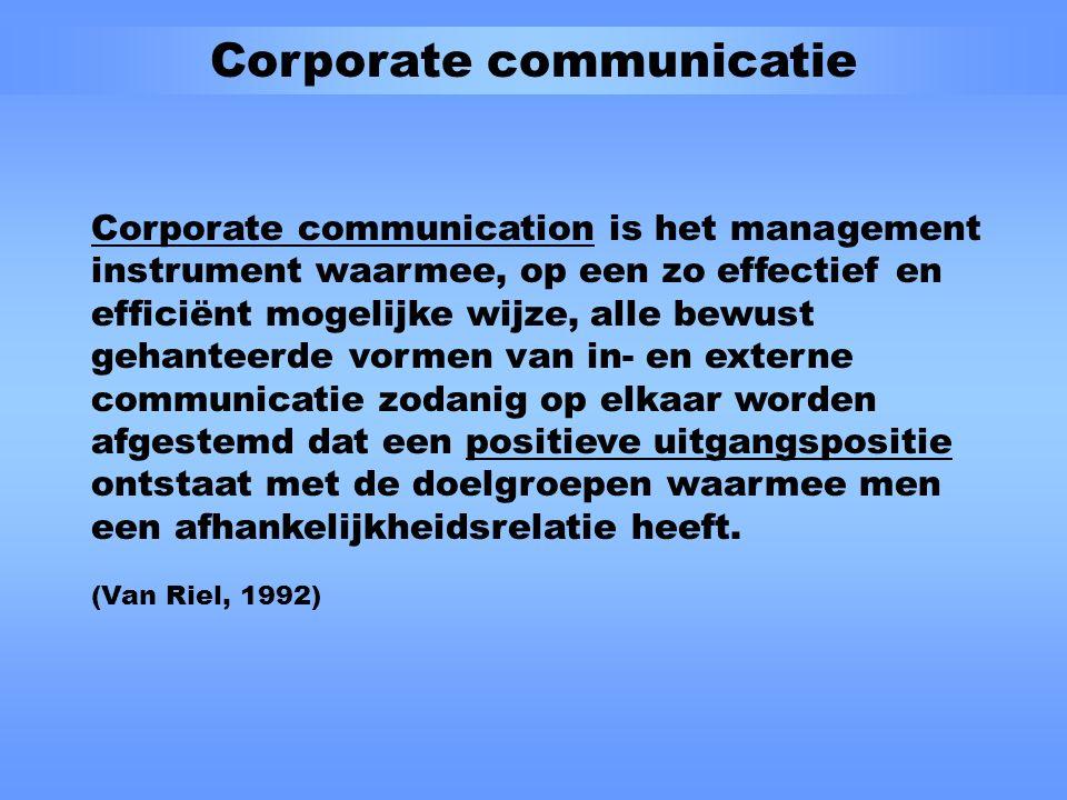 Communicatie-scan Doel Het in- en externe communicatiebeleid van een organisatie optimaliseren door het volledige communicatiesysteem op systematische wijze door te lichten en te beoordelen aan de hand van standaard kwaliteitseisen waaraan het communicatiesysteem dient te voldoen.