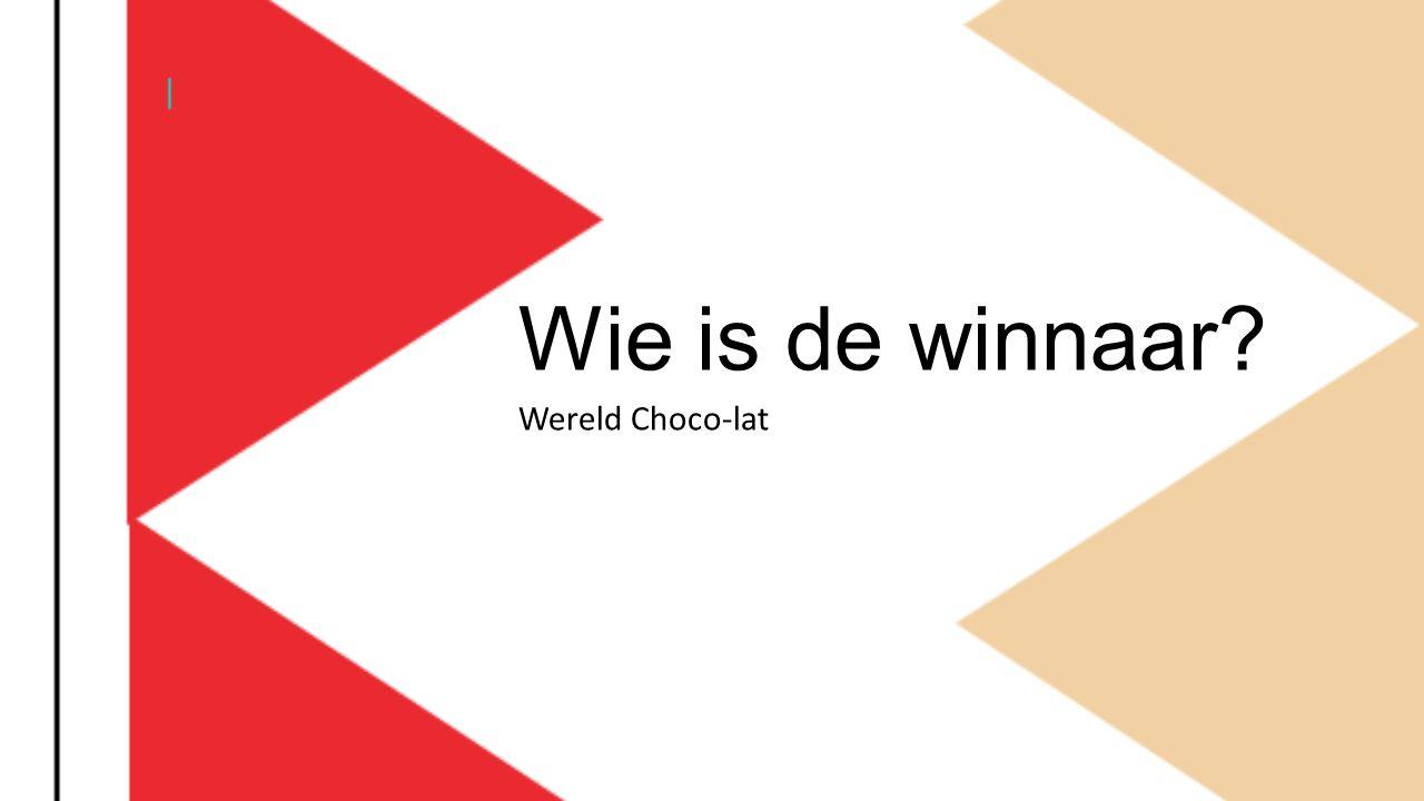 Wie is de winnaar? Wereld Choco-lat