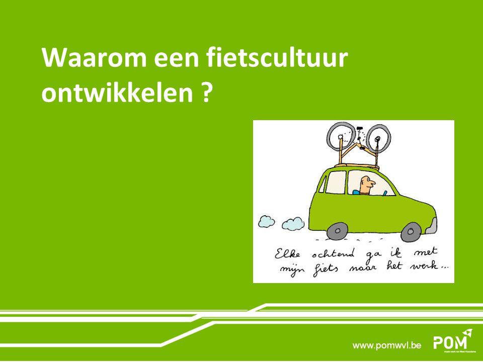 www.pomwvl.be Waarom een fietscultuur ontwikkelen ?